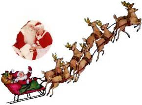 picture of santa and reindeer clipart best
