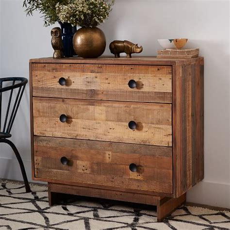Reclaimed Wood Dressers For Sale by Emmerson Reclaimed Wood 3 Drawer Dresser West Elm