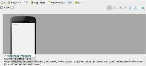ui layout callback error android studio quot blank activity quot template not working