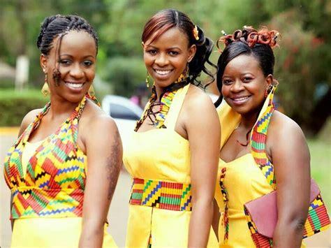 Bridesmaids in a wedding in Kenya   Weddings