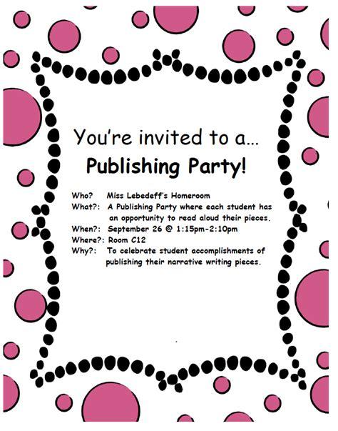 Publishing Party Teacher Sparkles Publishing Invitation Template