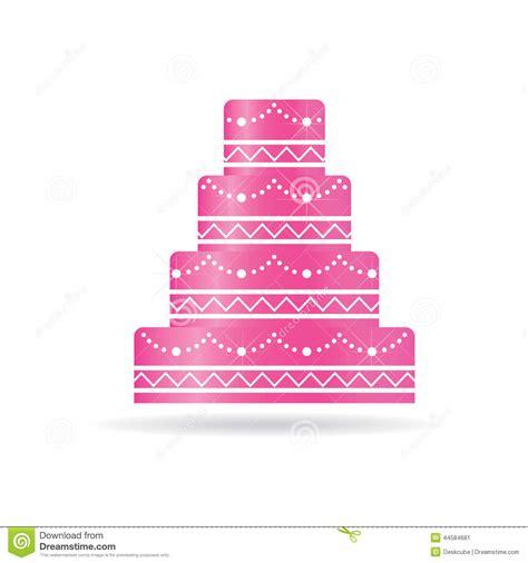 Logo Rose De Gâteau De Mariage Illustration de Vecteur