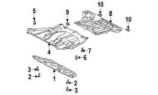 parts 174 lexus rx330 splash shields oem parts