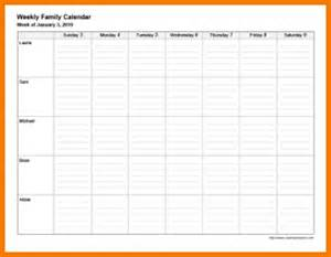 family calendar template 7 family weekly calendar template financial statement form