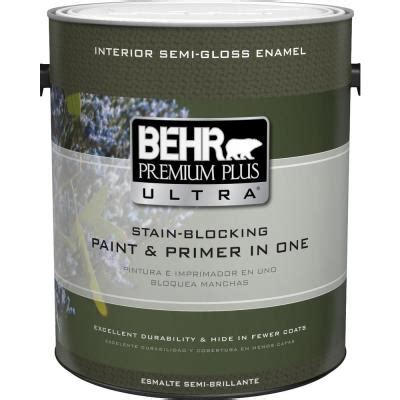 Behr Premium Plus Interior Semi Gloss Enamel by Behr Premium Plus Ultra 1 Gal Ultra White Semi Gloss