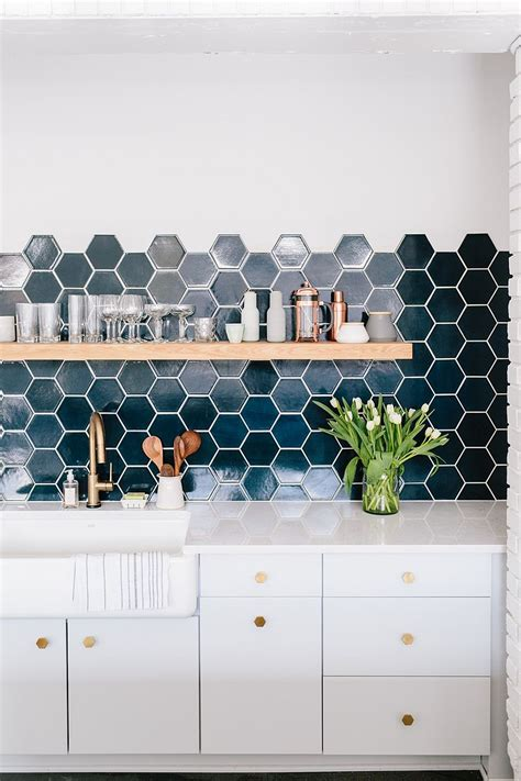 hexagon tile kitchen backsplash 10 hexagonal tiles ideas for kitchen backsplash floor and more