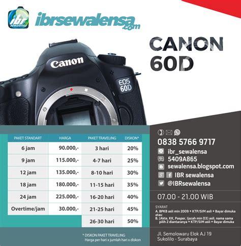 Kamera Canon 60d Di Surabaya ibr sewa lensa