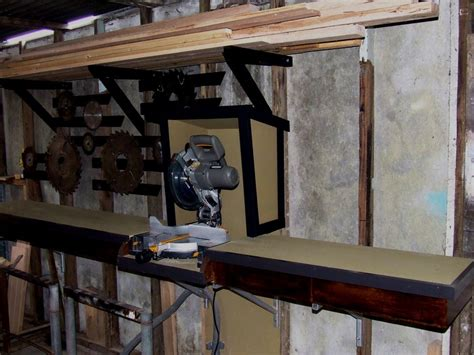 drop saw bench suspended drop saw bench made from scraps by