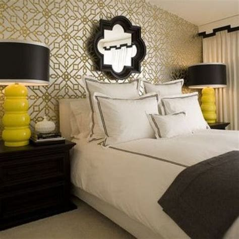 black white gray and yellow bedroom haute color combo yellow black