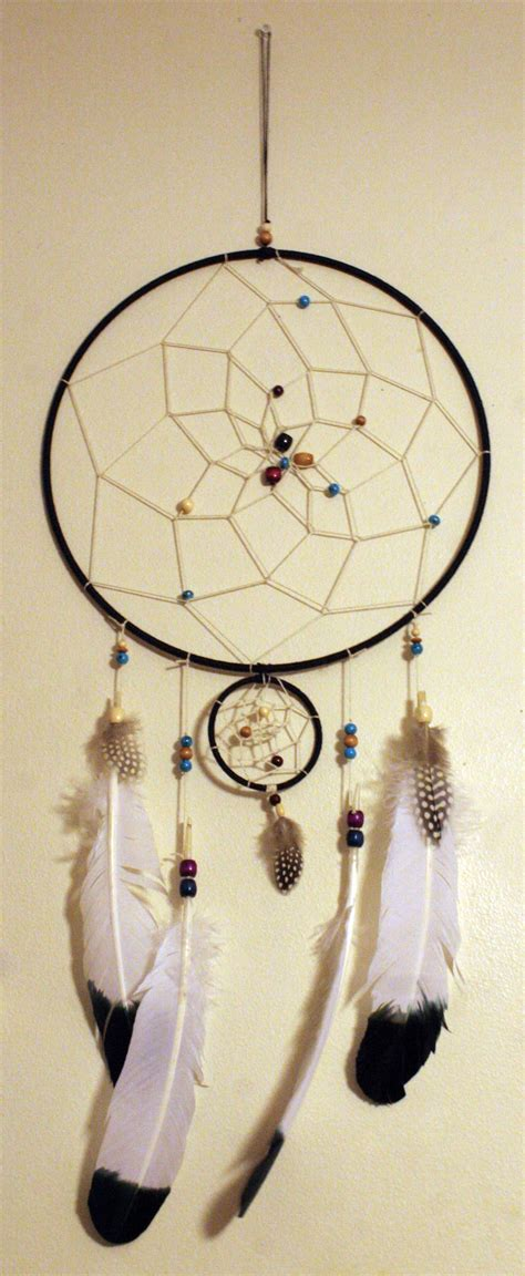 Handmade Dreamcatcher - handmade dreamcatcher with eagle feathers by