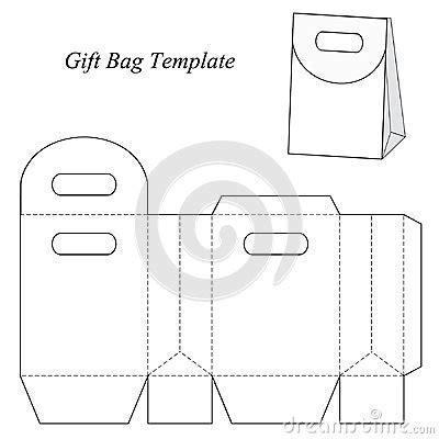 Blank Gift Bag Template With Round Lid Stock Vector Image 48154666 Gift Bag Template