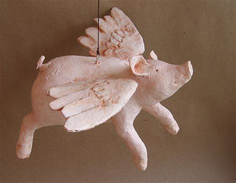 How To Make A Paper Mache Pig - paper mache flying pig papercraft juxtapost