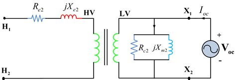 high voltage side circuit test determination of transformer equivalent circuit parameters