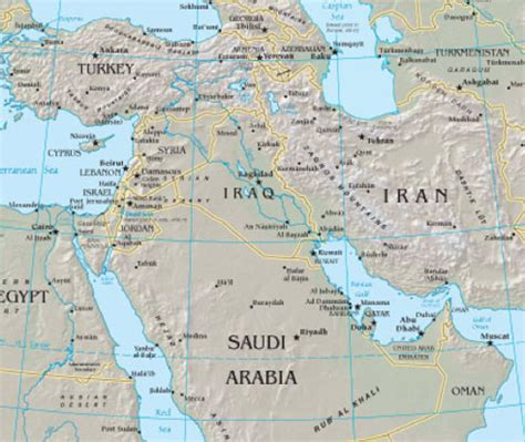 map of iran and syria a syria iran