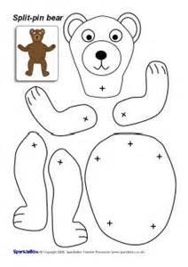split pin bear character sb2043 sparklebox