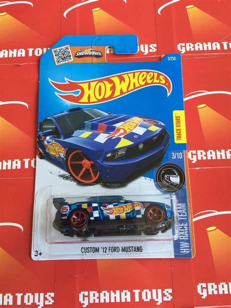 imagenes hot wheels 2016 custom 12 ford mustang 3 blue 2016 hot wheels case q