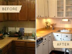 apartment kitchen makeover before after a drab kitchen gets a one day makeover