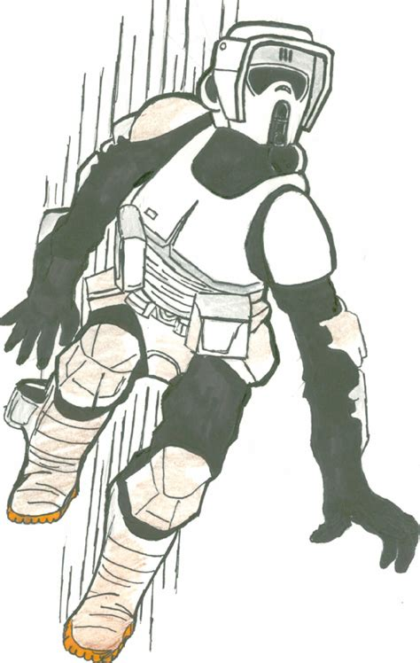 How To Draw Scout Trooper