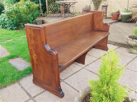 oak pew bench victorian oak pew bench hall seat antiques atlas