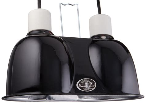 zoo med deep dome l fixture black zoo med labs mini combo deep dome dual l fixture black