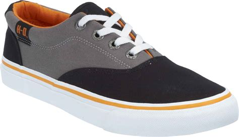 harley shoes harley davidson s lawthron black or grey canvas