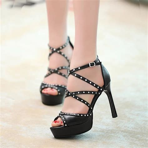 thin high heel sandals kilimall fashion thin high heel shoes open toe ankle