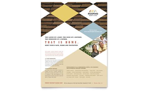Roofing Contractor Flyer Template Word Publisher Roofing Flyer Templates