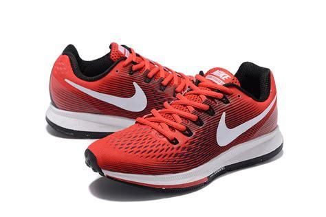 Jogger 34 Nike Trainer nike air zoom pegasus 34 em running shoes sneakers trainers crimson black white 880555 601