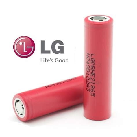 Batere Lg He2 18650 35 High Drain 2500mah lg he2 2500mah high drain 35a 18650 li on battery