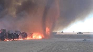 watch: fire tornado captured in rare video