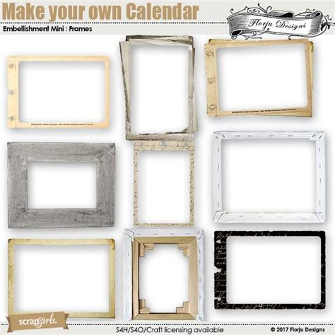 make my own calendar 2018 make your own calendar 2018 embellishment frame
