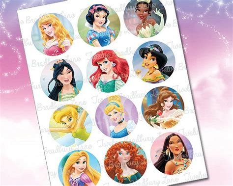 printable 12 mixed disney princess party cup cake toppers instant download disney princess cupcake toppers diy