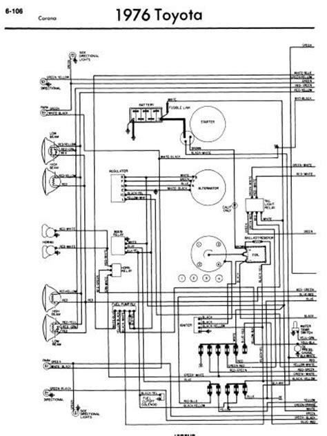 toyota corona 1976 wiring diagrams corona free