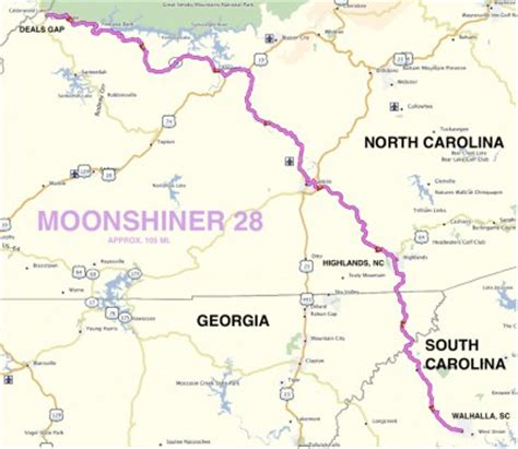 roadrunner's bucket list roads: moonshiner 28