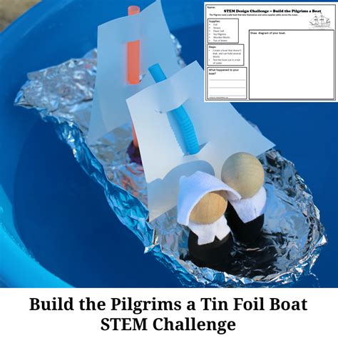 build the pilgrims a boat stem challenge - Build A Boat Stem Challenge