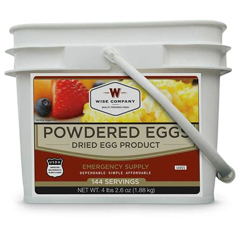 Powdered Eggs Shelf by Wise Company Powdered Eggs 144 Servings 640366