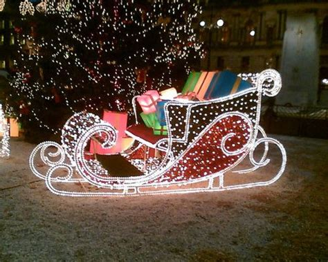 santa sleigh outdoor christmas decorations princess decor