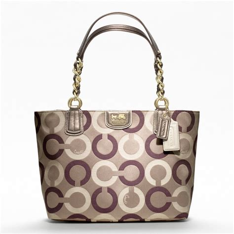couch handbag coach new madison op art multi sateen tote all handbag