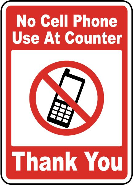 No Cell Phone Sign Printable