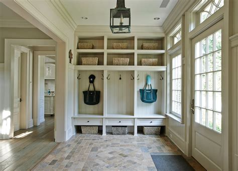 Mudroom Floor Ideas by Mudroom Lockers Cottage Laundry Room Brooks Amp Falotico