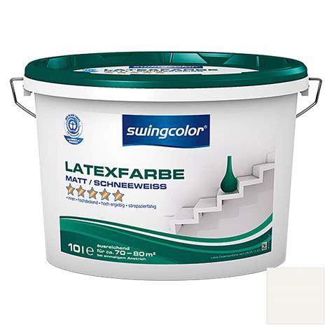 latexfarbe matt swingcolor latexfarbe schneewei 223 10 l matt bauhaus