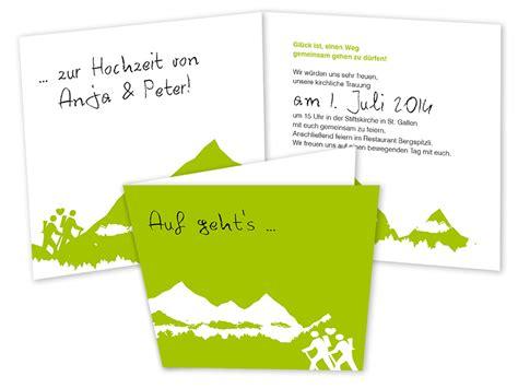 Hochzeitseinladung Berge hochzeitseinladungskarten berge gipfelst 252 rmer