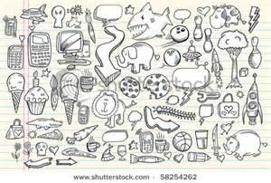 doodle clip stock vector notebook doodle clip design elements mega