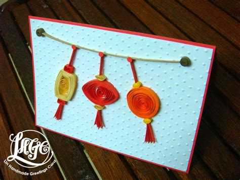new year cards craft quilled lanterns on cny cards
