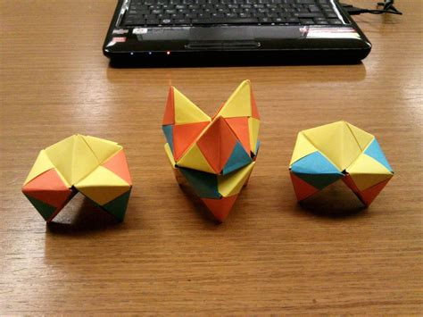 Origami Puzzle Box - modular origami how to make a cube octahedron