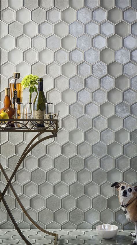 hexagon tile kitchen backsplash glass tile tile interior design tozen tile feature