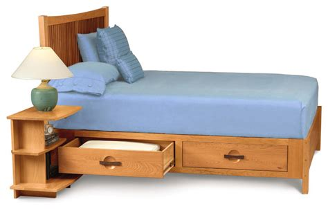 berkeley solid wood craftsman style bed with drawers