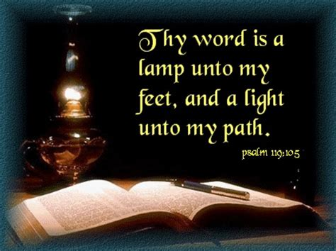 The Word Is A L Unto by Psalm 119105 Thy Word Is A L Unto Picture To