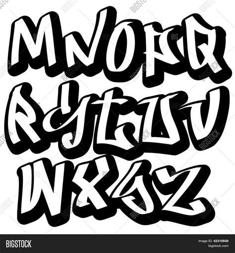 graffiti lettere alfabeto graffiti font alphabet letters vector photo bigstock