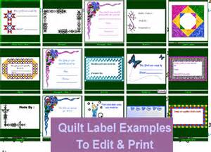 quilt label templates below is a small sling of the quilt labels available